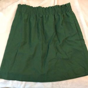 Olive GreenJCrew Skirt